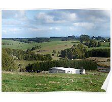 Landscape, country Victoria, Australia Poster