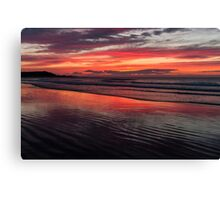 Raspberry Ripple - Red sunset reflections Canvas Print