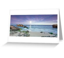 Dawn Moonscape Greeting Card