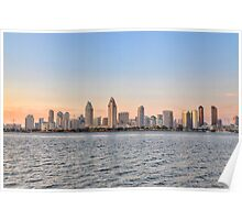 San Diego Skyline Sunset CALIFORNIA Poster