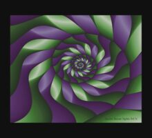 Ribbon Spiral by Sandra Bauser Digital Art