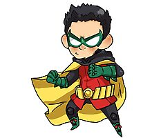 DC Comics || Damian Wayne/Robin Photographic Print