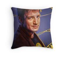 Nathan Fillion Throw Pillow