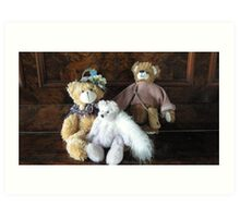 Auntie, Cousin and Baby Teddies. Art Print