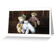 Auntie, Cousin and Baby Teddies. Greeting Card