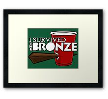 I Survived the Bronze Framed Print