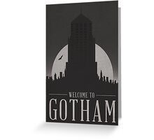 Batman - Welcome To Gotham City Greeting Card