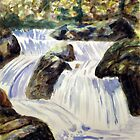 wonderful Watercolour Waterfall by Jim Phillips