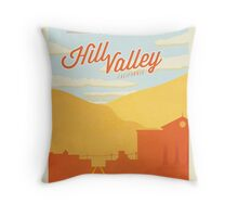 Back to the Future - Welcome To Hill Valley  Throw Pillow