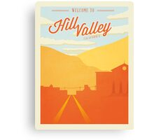Back to the Future - Welcome To Hill Valley  Canvas Print