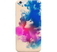 Psychedelic Ink Splash Watercolor Girl Portrait iPhone Case/Skin