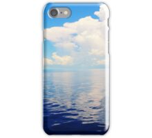 White Clouds Reflection shinning on the Bahamas Sea   iPhone Case/Skin
