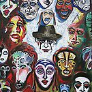 'Self-Portrait with Masks' by Jerry Kirk