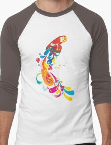 Colorful patterned parrot Men's Baseball ¾ T-Shirt