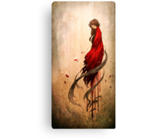 Girl in Red Canvas Print
