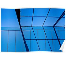 Sectioned Blue Poster