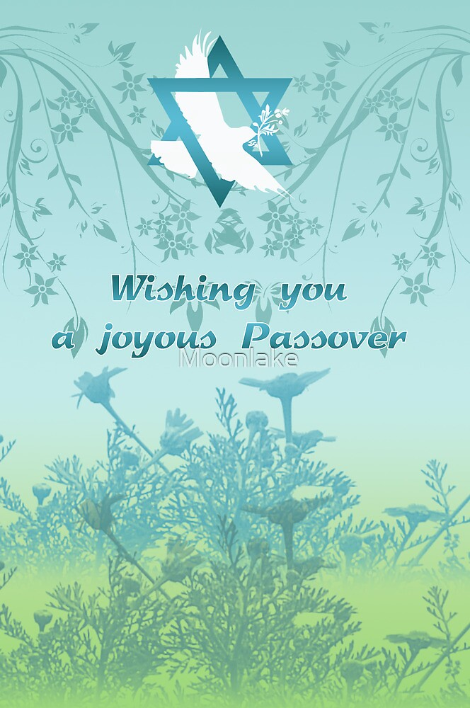 Passover Greeting Card With Dove by Moonlake