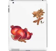 hand drawn watercolor painting fruit garnet with spices iPad Case/Skin
