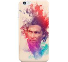 Matthew McConaughey Ink Watercolor Splash Portrait True Detective iPhone Case/Skin