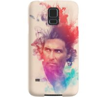 Matthew McConaughey Ink Watercolor Splash Portrait True Detective Samsung Galaxy Case/Skin