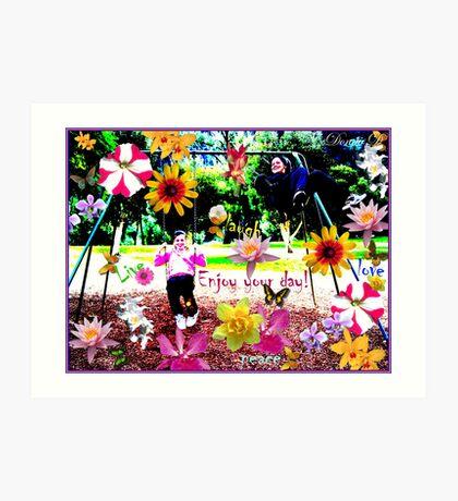Having fun Art Print