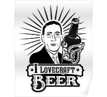 I Lovecraft Beer Poster