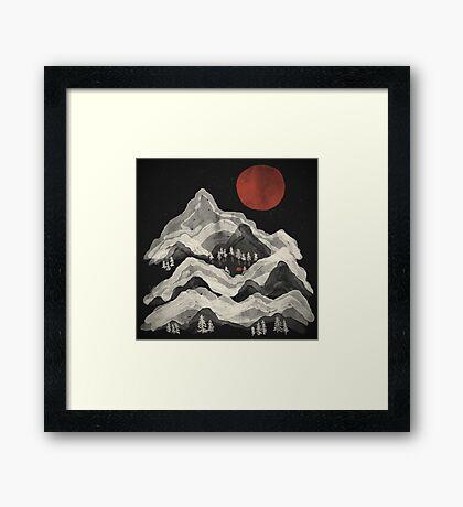 Moon Lake... Framed Print