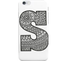 Letter S Black and White iPhone Case/Skin