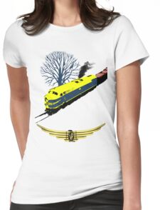Victorian Railways S Class thunders by Womens Fitted T-Shirt