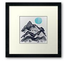 The Sun in Moon Lake... Framed Print