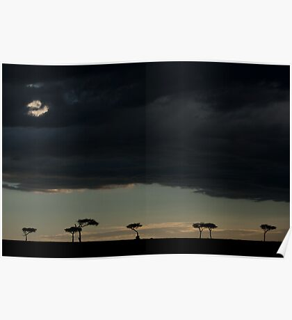 a hole in the clouds Poster