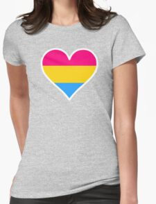 Pansexual Heart in White T-Shirt