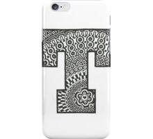 Letter T Black and White iPhone Case/Skin