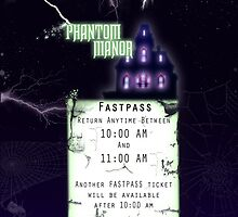 Phantom Manor- Fastpass by Margybear