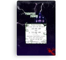 Phantom Manor- Fastpass Canvas Print