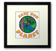 save planet earth Framed Print