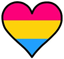 Pansexual Heart in Black by DeliriumLina