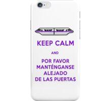 Monorail- Keep Calm (Purple) iPhone Case/Skin