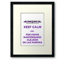 Monorail- Keep Calm (Purple) Framed Print