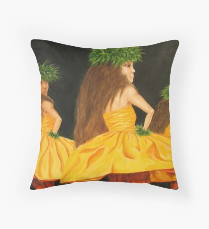 Golden Mele Throw Pillow