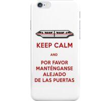 Monorail- Keep Calm (Red) iPhone Case/Skin