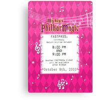 Mickey's Philharmagic Fastpass Canvas Print