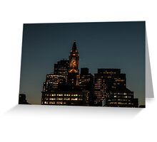 First Lights After Sunset Greeting Card