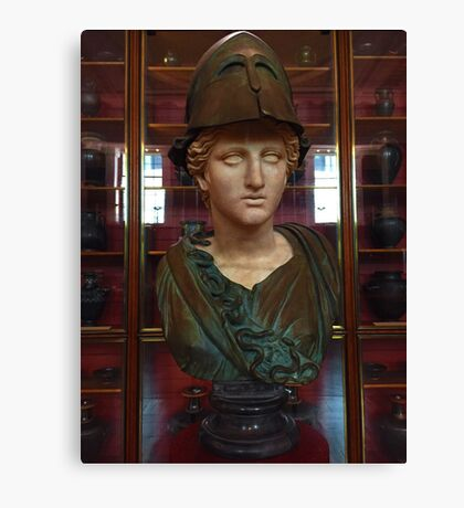 Copper Bust in Rome Canvas Print
