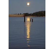 full moon reflected Photographic Print
