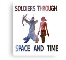 Soldiers through space and time Canvas Print