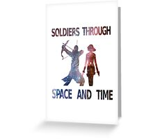 Soldiers through space and time Greeting Card