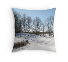 White blanket of Snow Throw Pillow