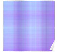 Lilac-Violet Plaid Poster