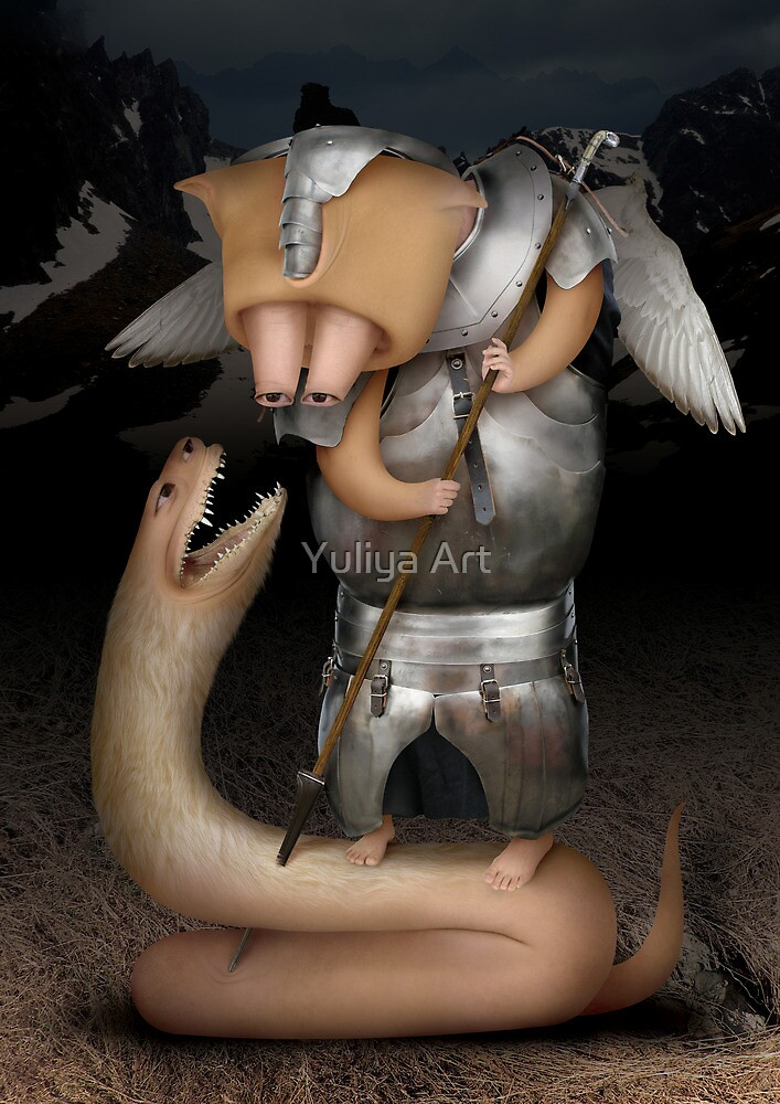 The Moon God by Yuliya Art